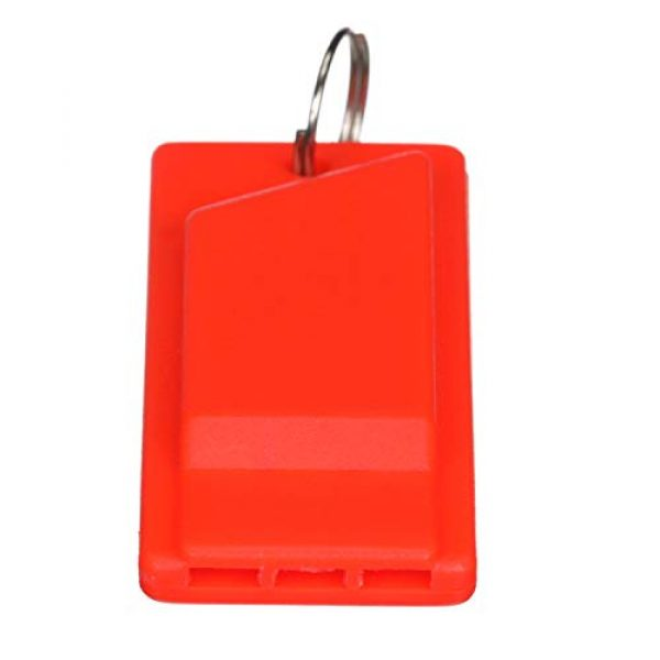 attwood Survival Whistle 2 Attwood 11829-6 Safety Whistle, Plastic, Flat Type, No Interior Ball, Delivers Emergency Signal, Includes Lanyard