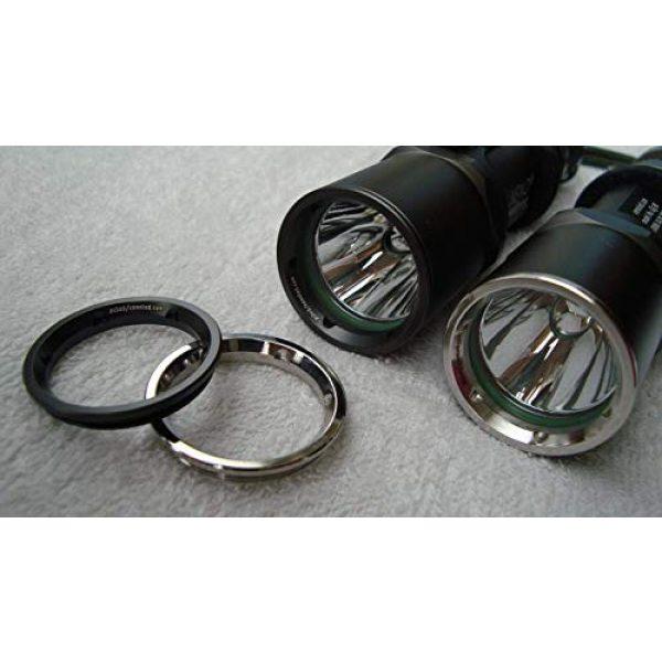 Xeno Survival Flashlight 2 Xeno RG03 Handheld Tactical Led Flashlight Lens Grip Ring - Ti-Electroplating Black Version