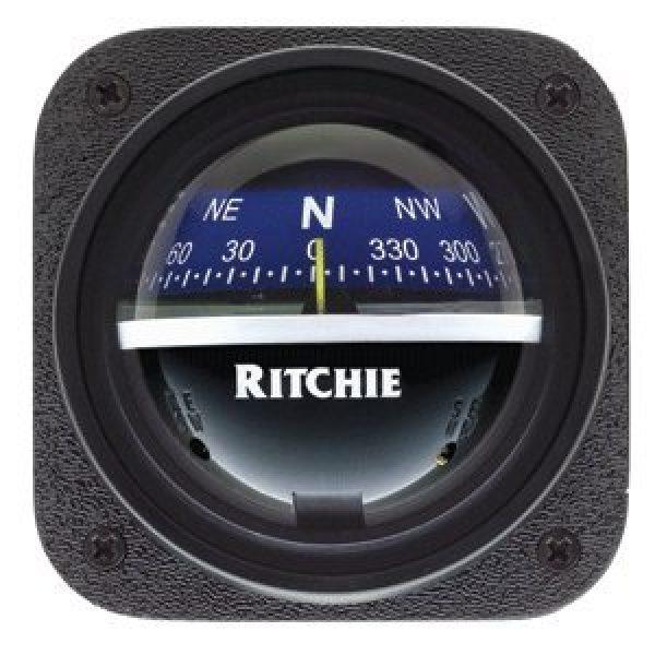 E.S. Ritchie Survival Compass 2 E.S. Ritchie V-537B Ritchie V-537B Explorer Compass - Bulkhead Mount - Blue Dial
