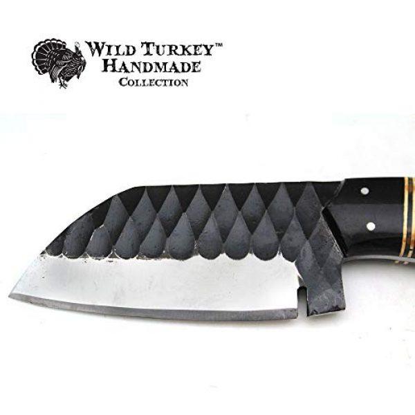 Wild Turkey Handmade Fixed Blade Survival Knife 4 Wild Turkey Handmade Collection Full Tang High Carbon Steel Fixed Blade Knife w/Leather Sheath