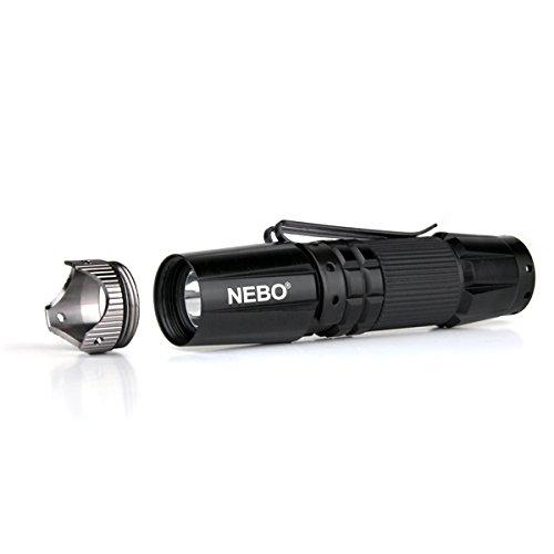 NEBO  2 NEBO 5872 CSI Edge 90 Lumens Aluminum LED Flashlight 5872 with 2X Extra Energizer AA Batteries