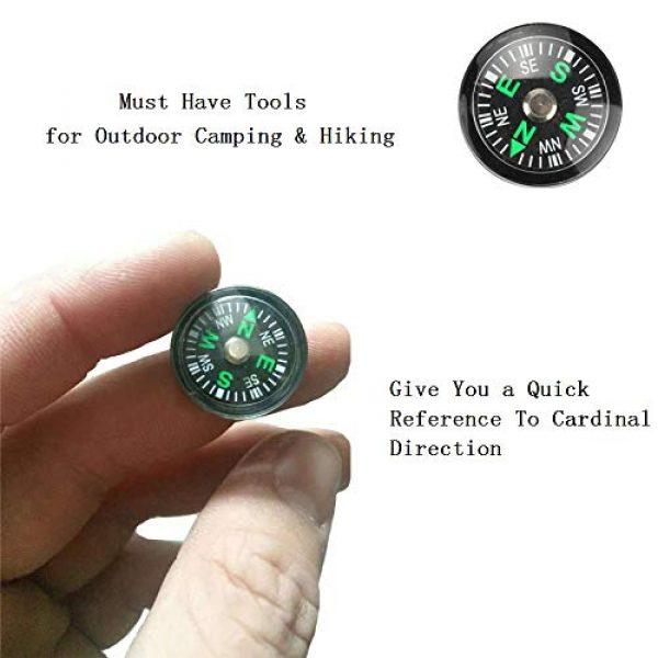 Gimiton Survival Compass 4 Compass for Kids, Mini Compass for Hiking, 20mm Button Compass, Black Survival Compass, Paracord Compass