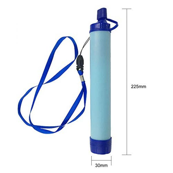 Puimentiua Survival Water Filter 5 Puimentiua Straw Filter, Straw Water Filter, Hiking Water Purifier, Camping Straw Filter for Backpacking, Drinking Water in Survival Situation