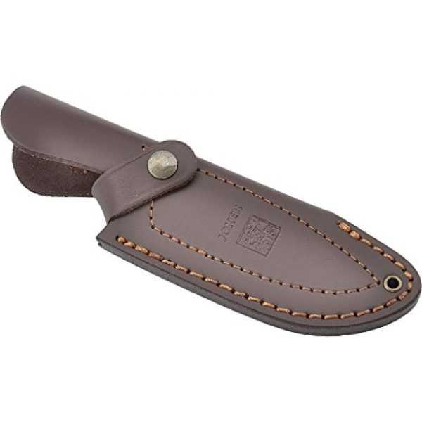 Joker Fixed Blade Survival Knife 3 Joker Hunting and Hiking Knife Mont©s II CO58 with Olive Wood Handle, 4.33 inches Blade and Brown Leather Sheath, Tool for Fishing, Hunting, Camping and Hiking