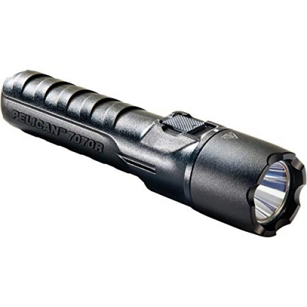 Pelican Survival Flashlight 2 Pelican 7070R Rechargeable Tactical LED Flashlight (Black)