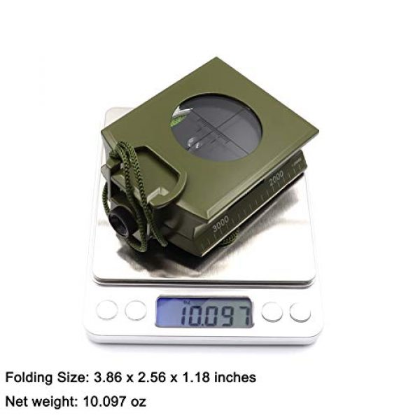 DETUCK Survival Compass 6 DETUCK(TM Military Compass Metal Lensatic Compass with Inclinometer, Night Fluorescent, Impact Resistant and Waterproof, Sighting Navigation Survival Compass for Hiking, Camping, Hunting, etc