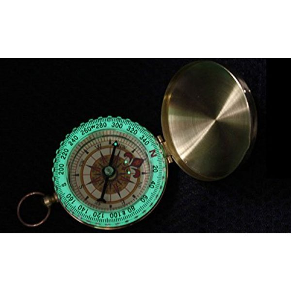 BlueSnail Survival Compass 3 PPbean Classic Pocket Style Camping Compass