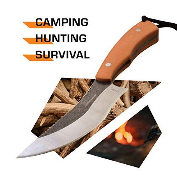 Elk Ridge Evolution Fixed Blade Survival Knife 2 Elk Ridge Evolution Fixed Blade - ERE-FIX012-OR