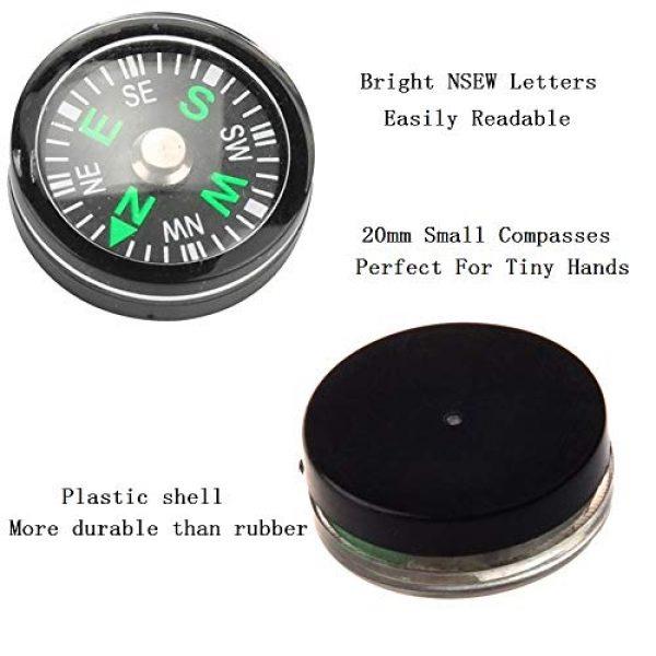 Gimiton Survival Compass 3 Compass for Kids, Mini Compass for Hiking, 20mm Button Compass, Black Survival Compass, Paracord Compass