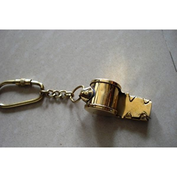 Brass Blessing Survival Whistle 4 Nautical Solid Brass Small Whistle Key Chain from Brass Blessing (17)