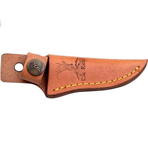 Elk Ridge Fixed Blade Survival Knife 3 Elk Ridge ER-059 Series Fixed Blade Hunting Knife, Straight Edge Blade, Wood Handle, 7-Inch Length