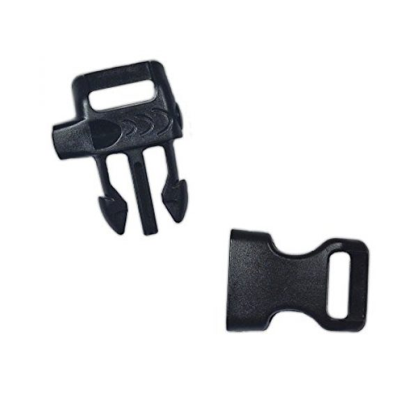 PARACORD PLANET Survival Buckle 2 PARACORD PLANET Plastic Side-Release Emergency Whistle Buckle - 1/2 Inch - Black