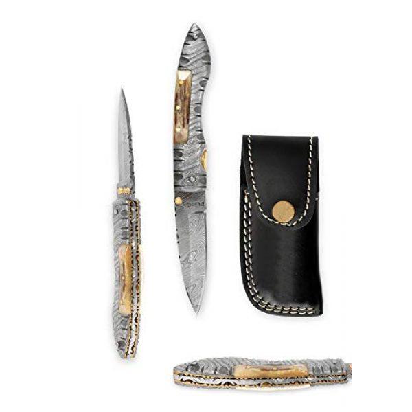 Perkin Folding Survival Knife 3 Perkin MM2002L Damascus Steel Knife, Pocket Knife, Folding knife