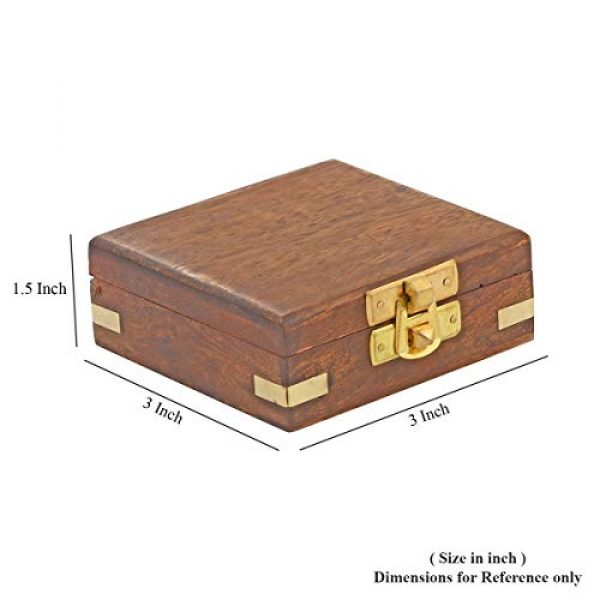 Shop LC Delivering Joy Survival Compass 6 Shop LC Delivering Joy Handcrafted Wooden Box with Built in Goldtone Compass Camping