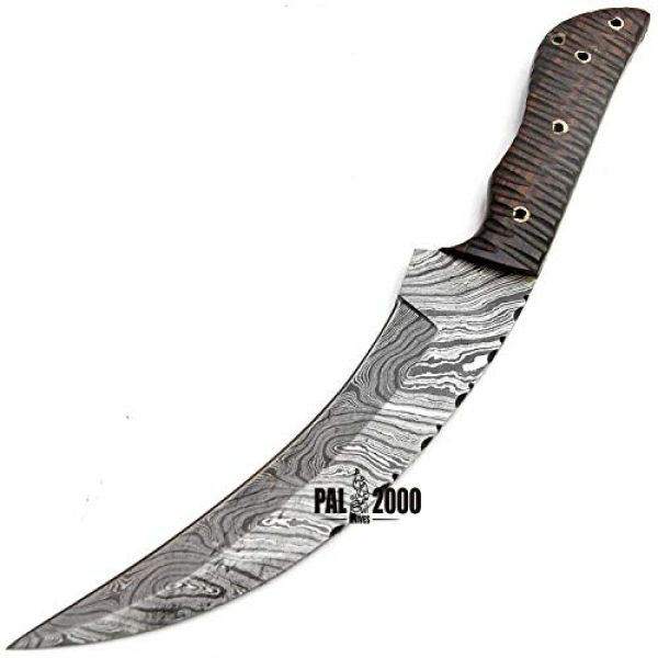 PAL 2000 KNIVES Fixed Blade Survival Knife 7 SGJA-9350 Custom Handmade Damascus Steel Hunting Knife -Sword|Chef Kitchen Knife|Dagger|Full Tang|Skinner|Bowie|Axe|Billet|Cleaver|Bar|Folding Knife|Kukri|Knives|Survival|Camping with Sheath