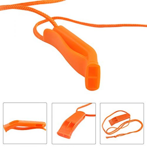 Augsun Survival Whistle 3 Augsun 10 Pcs Safety Whistle Marine Whistle Plastic Whistles with Lanyard for Emergency