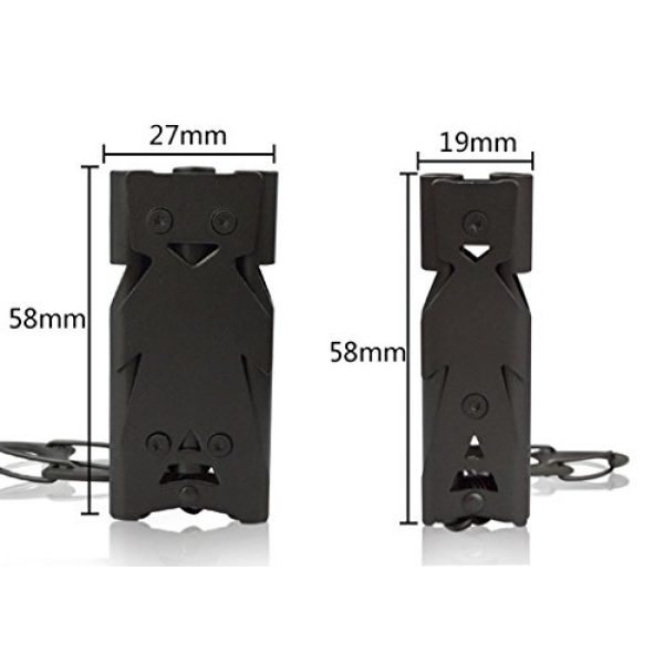 Hxst Survival Whistle 2 Hxst Stainless Steel Double or 3 Tubes High Frequency Loud Outdoor Whistle with Key Chain