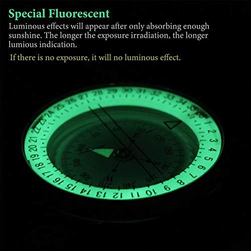 YEHOBU Survival Compass 4 YEHOBU Hiking Compass, Military Compass, Multifunctional Lensatic Compass, Waterproof Navigation Compasses, Survival Emergency Luminous Sighting Compass