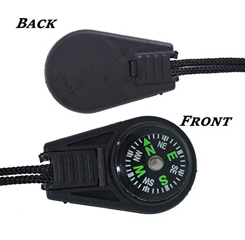Bytiyar  3 Bytiyar 20 pcs Small Plastic Liquid Filled Compass Keychain Lanyard Hook Survival Kit for Backpack
