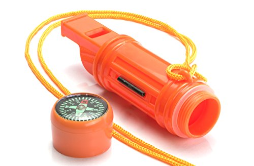 SE  3 SE 5-in-1 Survival Whistles (2-Pack) - CCH5-1-2