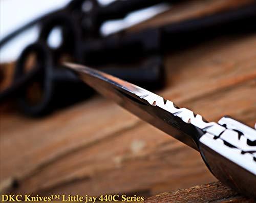 "DKC Knives  3 DKC Knives Sale DKC-58-LJ-EH-440c Little Jay Chief 440c Stainless Steel Folding Pocket Knife 4"" Folded 7"" Long 4.7oz oz High Class LJ-Series"