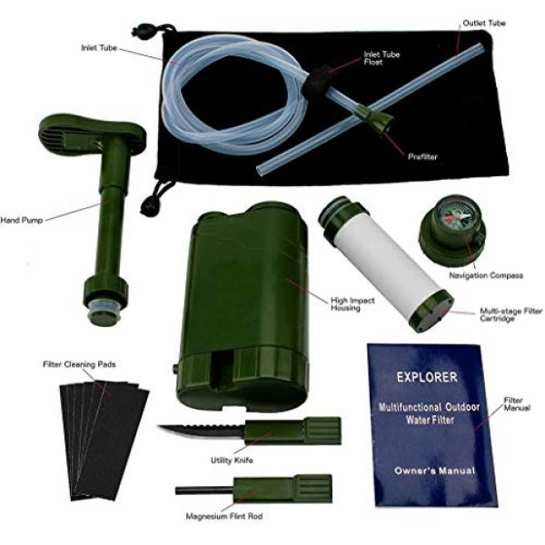 Barley Dean's Survival Water Filter 2 Barley Dean's Hiking Water Filter Pump. Camping Backpacking Travel Emergency Preparedness. Portable and Multi-Functional and Great for Your Survival Kit. Bonus Multi-Tool Included