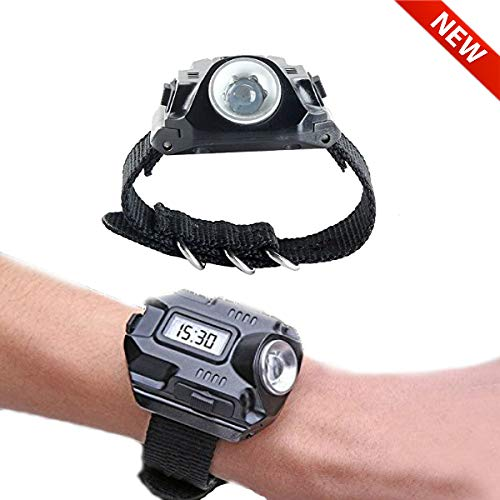 SUNDERPOWER  5 Portable Rechargeable Wrist Light - Waterproof LED Tactical Flashlight for Outdoor Running Hiking Camping Birthday Gift