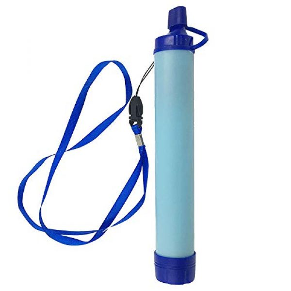 Puimentiua Survival Water Filter 2 Puimentiua Straw Filter, Straw Water Filter, Hiking Water Purifier, Camping Straw Filter for Backpacking, Drinking Water in Survival Situation