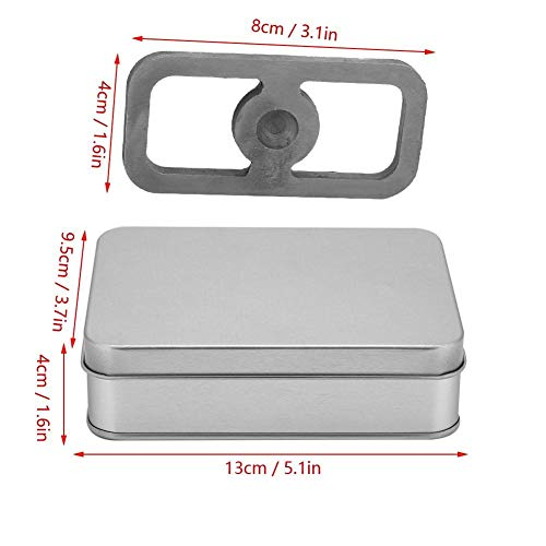 Alomejor  2 Alomejor Portable Steel Fire Start Tools Kit with Hinged Tin Box Fire Striker Camping English Flint Essential for Survival Outdoors