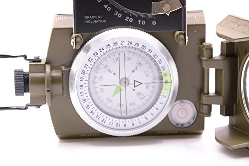 Beileshi  5 beileshi Professional Multifunction Military Army Metal Sighting Compass W/inclinometer Camping and Hiking Waterproof Compass
