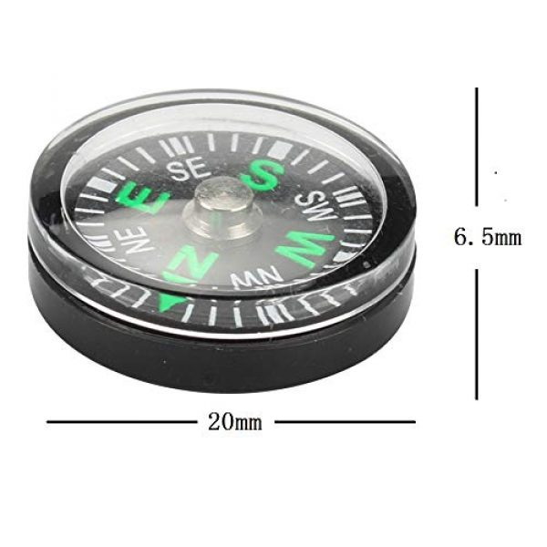 Gimiton Survival Compass 2 Compass for Kids, Mini Compass for Hiking, 20mm Button Compass, Black Survival Compass, Paracord Compass