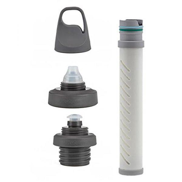 LifeStraw Survival Water Filter 2 LifeStraw Universal Water Filter Bottle Adapter Kit Fits Select Bottles from Hydroflask, Camelbak, Kleen Kanteen, Nalgene and More