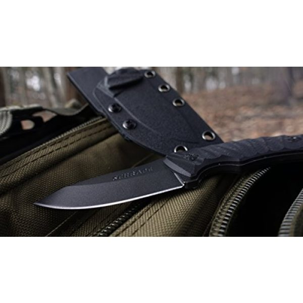 Schrade Fixed Blade Survival Knife 5 Schrade SCHF57 6.3in Steel Full Tang Fixed Blade Knife with 2.6in Drop Point Blade and G-10 Handle for Outdoor Survival, Camping and EDC
