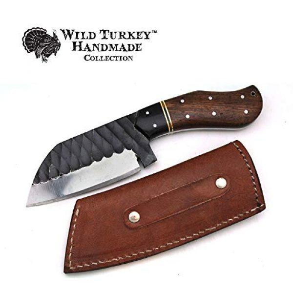 Wild Turkey Handmade Fixed Blade Survival Knife 2 Wild Turkey Handmade Collection Full Tang High Carbon Steel Fixed Blade Knife w/Leather Sheath