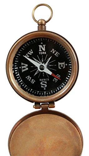 Historical Emporium Survival Compass 3 Historical Emporium Antique Brass Pocket Compass with Hinged Lid