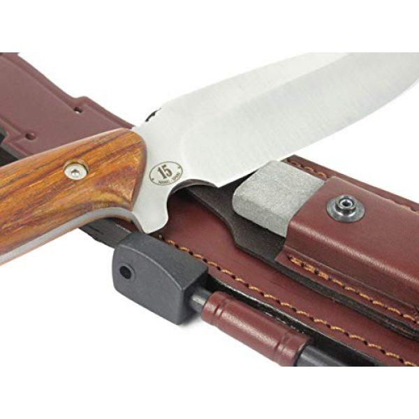 JEO-TEC Fixed Blade Survival Knife 4 JEO-TEC N15 Bushcraft Survival Hunting Knife - BOHLER N690C Stainless Steel, Multi-positioned Sheath - Handmade