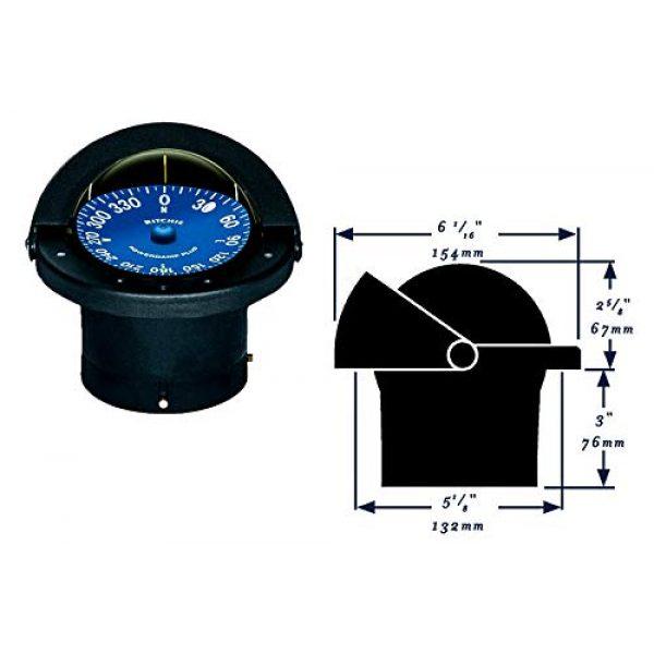 """Ritchie Navigation Survival Compass 2 Compass, Flush Mount, 4.5"""" Dial, Black"""