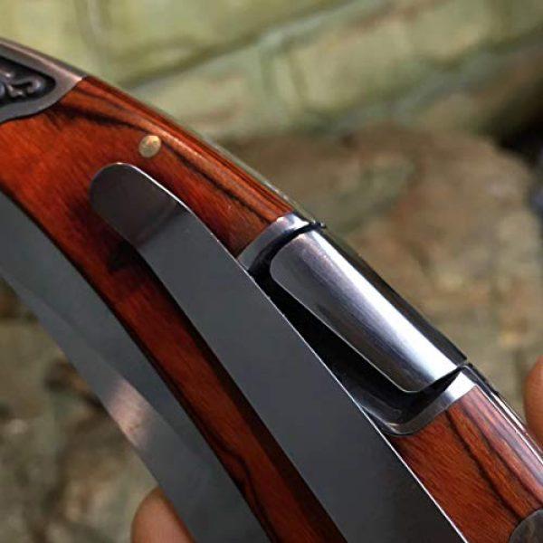 ENNSUN Folding Survival Knife 6 ENNSUN Artistic Exotica Carved Wood & Steel Handle Stainless Steel CNC Tactical Folding Knife Outdoor Survival EDC Tools Elegant Knife Collection Gift for Men