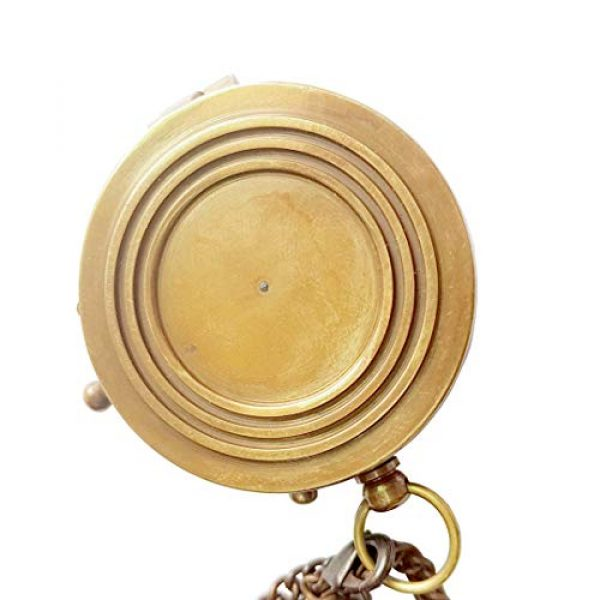 Brass Nautical Survival Compass 6 Brass Nautical Thoreau's Go Confidently Embossed Solid Brass Compass with Leather Case