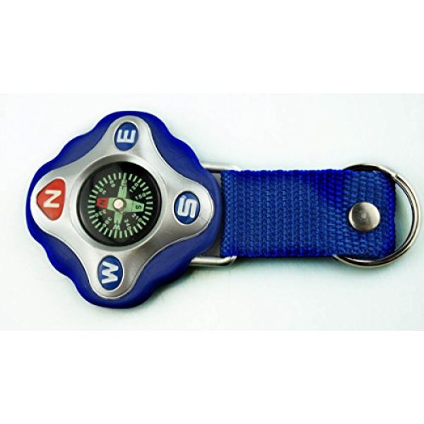 SE Survival Compass 4 SE Adventure Outdoor Compass with Keychain and Strap - CDC25H