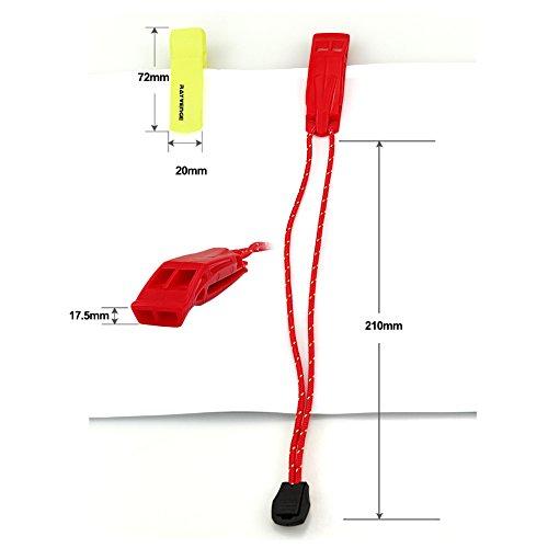 RAYVENGE  3 RAYVENGE Safety Whistle with Lanyard for Boating Hiking Kayak Emergency Survival Life Vest Rescue Signaling