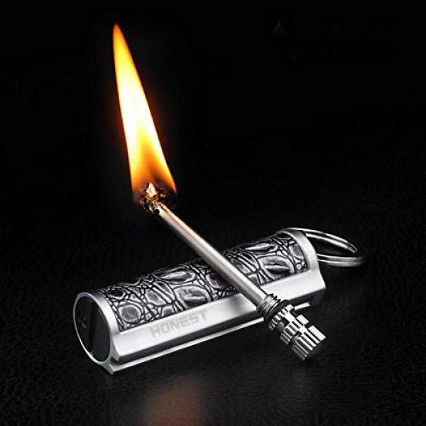 Fancyspark Survival Fire Starter 4 Permanent Metal Match Lighter Forever Keychain Lighter Waterproof Match EDC Emergency Matchstick Survival Flint Fire Starter (Fuel Not Included)