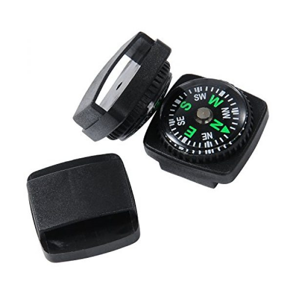 Techion Survival Compass 3 Techion 10 Pack Liquid Filled Compass Set for Emergency Survival Kits/Watchband/Paracord Bracelets and Keychain