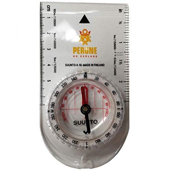 SUUNTO Survival Compass 2 SUUNTO A-10 Recreational Field Compass (in Metric Perune White)