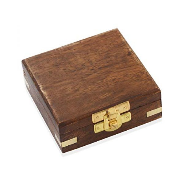 Shop LC Delivering Joy Survival Compass 3 Shop LC Delivering Joy Handcrafted Wooden Box with Built in Goldtone Compass Camping