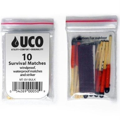 VAS First Response Survival Fire Starter 4 VAS Black Ops Water Proof Camping Survival Tote Survival Essentials & Fire Kit   Flint Rod Fire Starter   Emergency Whistle   UCO Survival Matches   Cotton Balls   Survival Scissors   Safety Pins