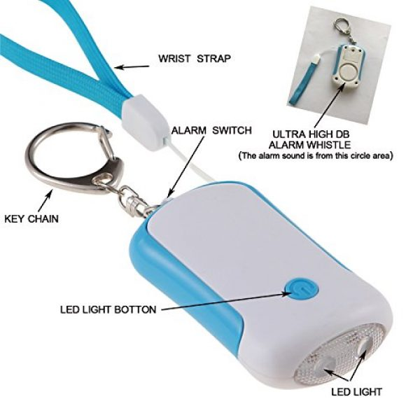 Guard Survival Alarm 2 Guard 125dB Personal Alarm with LED flashlight, Self Defense Keychain, survival whistle for Rape/Jogger/Women/Kids/Ederly Emergency