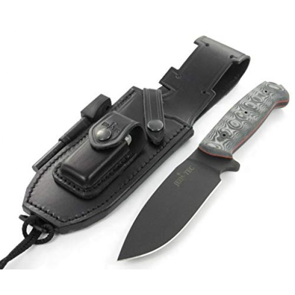 JEO-TEC Fixed Blade Survival Knife 4 JEO-TEC N1 Bushcraft Survival Hunting Camping Knife - BOHLER N690C Stainless Steel, Multi-positioned Leather Sheath - Handmade