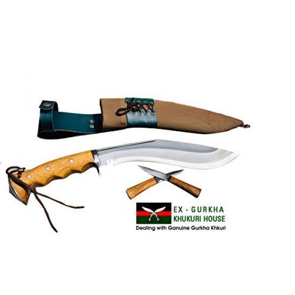 "EGKH. Fixed Blade Survival Knife 5 EGKH. Genuine Gurkha Hand Forged Kukri - 10"" Blade Authentic British Gurkha Iraqi Operation Gripper Blocker Handle Khukuri - By Ex Gurkha Khukuri House in Nepal"