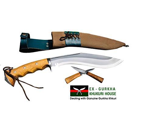 "EGKH.  5 EGKH. Genuine Gurkha Hand Forged Kukri - 10"" Blade Authentic British Gurkha Iraqi Operation Gripper Blocker Handle Khukuri - By Ex Gurkha Khukuri House in Nepal"